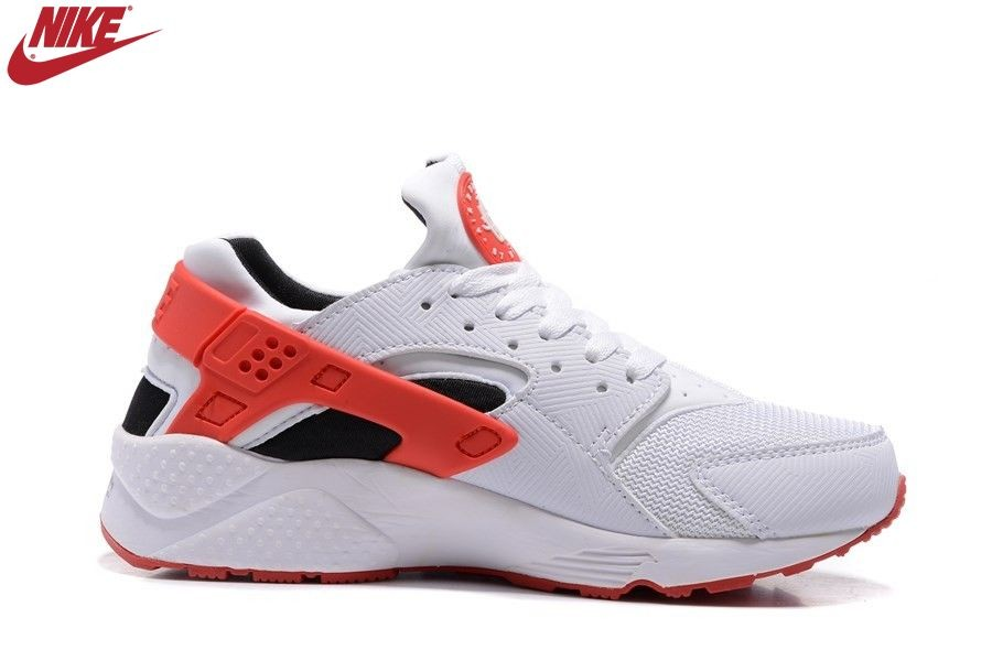 Femme Nike Air Huarache Blanc/Orange Promotion - Femme Nike Air Huarache Blanc/Orange Promotion-3