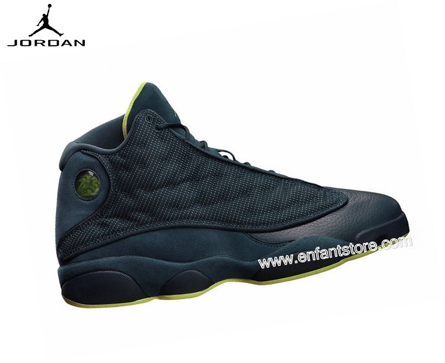 Nike Air Jordan 13/Xiii Retro Gs Baskets Pour Femme Squadron Blue 414574-405 - Nike Air Jordan 13/Xiii Retro Gs Baskets Pour Femme Squadron Blue 414574-405-0