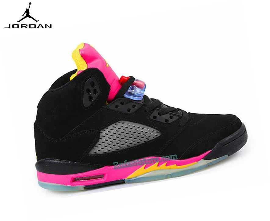 Run Chaussures Air Jordan 5/v Retro Gs Citrus/Floridan 440892-067 - Run Chaussures Air Jordan 5/v Retro Gs Citrus/Floridan 440892-067-1