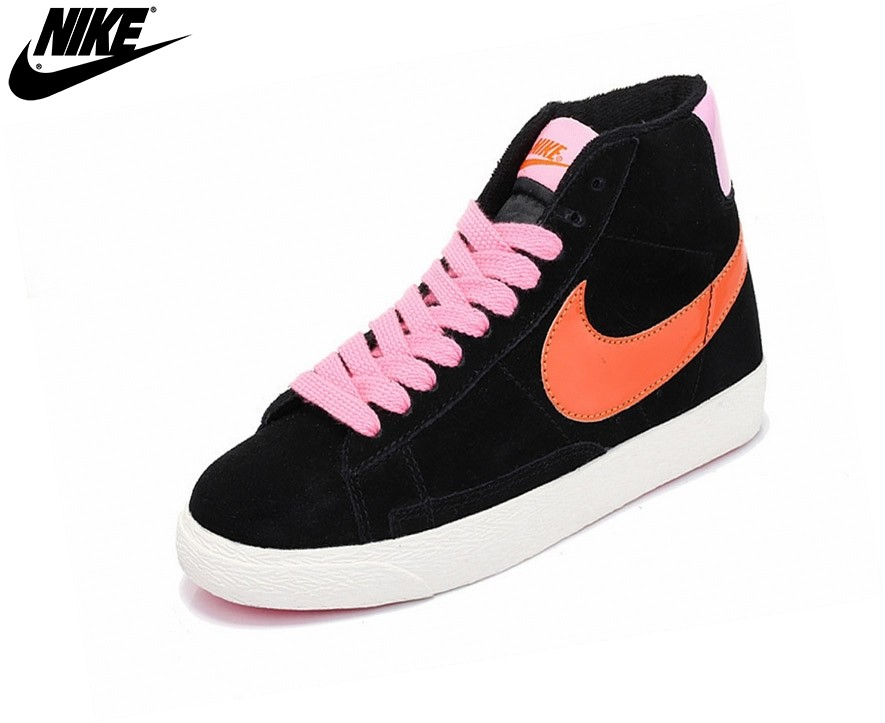 huge selection of cd888 11e45 ... discount code for nike blazer mid gs chaussures nike pour femme noir  rose nike blazer mid