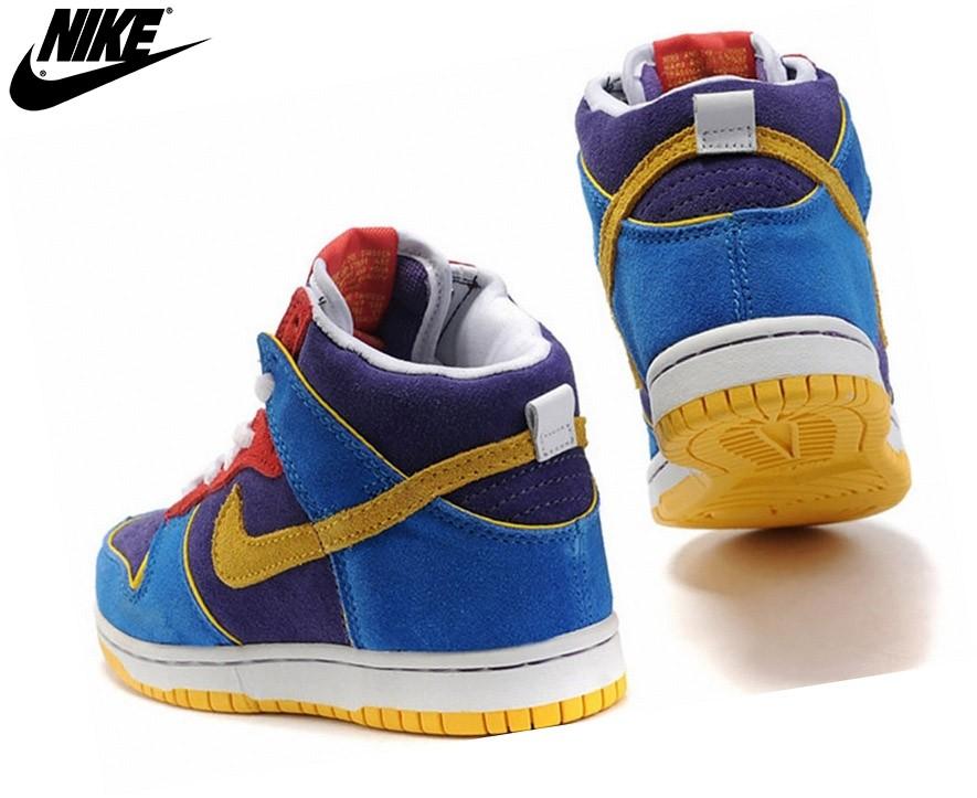 Nike Baskets Pour Garçon Dunk Sb High Bleu/Jaune Enfant Tn - Nike Baskets Pour Garçon Dunk Sb High Bleu/Jaune Enfant Tn-3