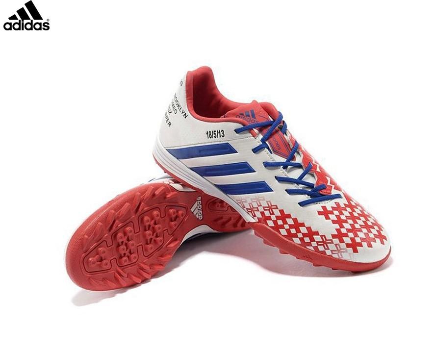 Adidas Homme Chaussures De Football Predator Lz Trx Fg Rouge/Blanc/Bleu (Beckham) - Adidas Homme Chaussures De Football Predator Lz Trx Fg Rouge/Blanc/Bleu (Beckham)-3