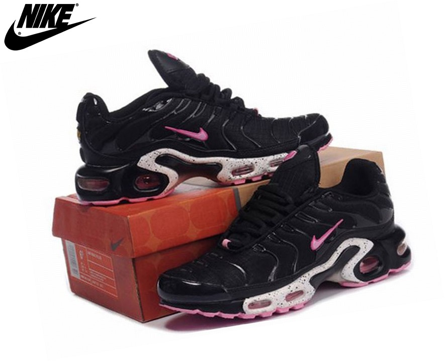 Nike Tn Requin/Nike Tuned 1 Fille Baskets Noir/Pink - Nike Tn Requin/Nike Tuned 1 Fille Baskets Noir/Pink-3