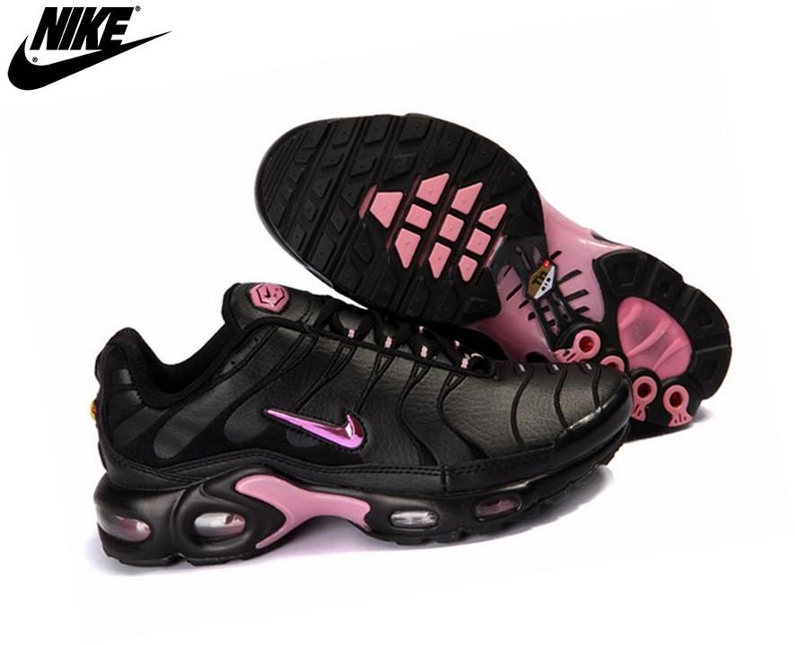 Nike Tn Requin/ Tuned 1 Baskets Pour Femme/Fille Pink/Noir - Nike Tn Requin/ Tuned 1 Baskets Pour Femme/Fille Pink/Noir-0