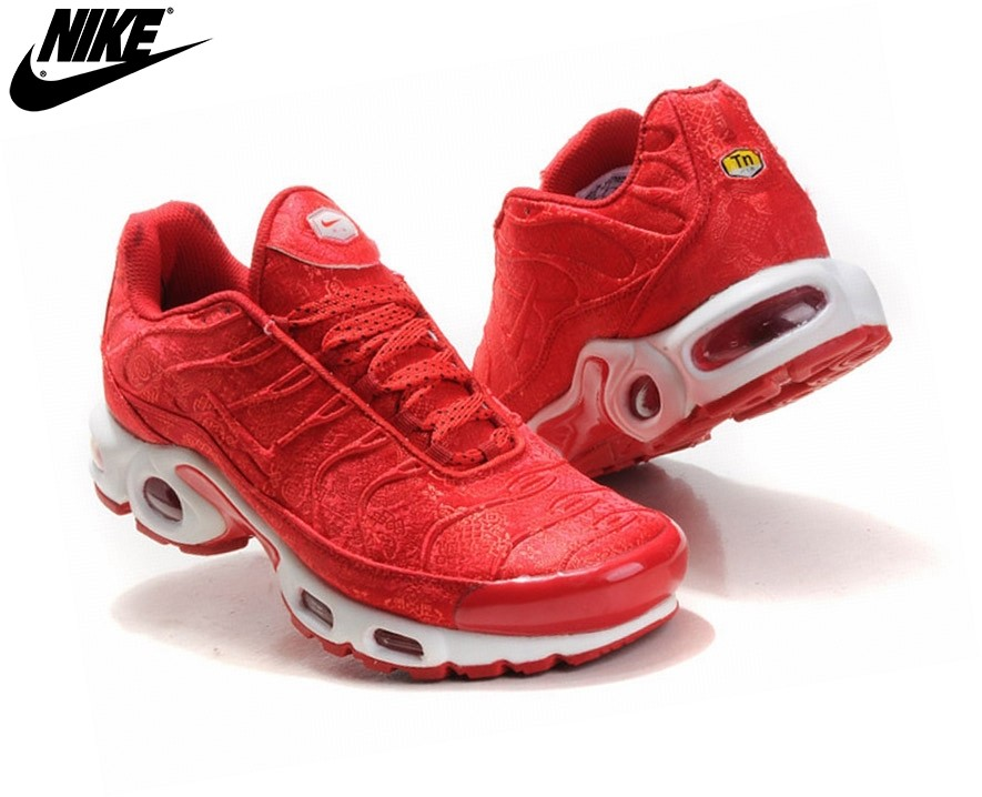 Nike Tn Requin/ Tuned 1 Baskets Pour Femme/Fille Rouge - Nike Tn Requin/ Tuned 1 Baskets Pour Femme/Fille Rouge-1