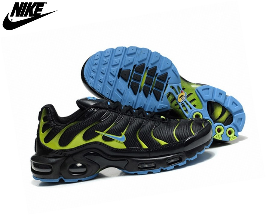 Nike Homme Chaussures De Course Tn Requin/Nike Tuned Noir - Nike Homme Chaussures De Course Tn Requin/Nike Tuned Noir-0