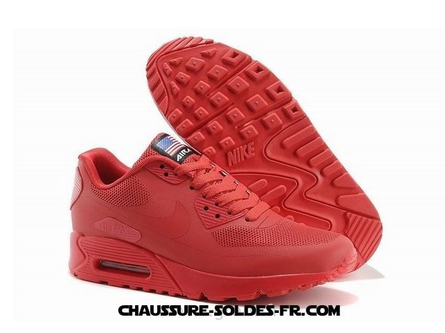 le dernier ae5fa 9599e Nike Air Max 90 Hyperfuse Prm 2014 Rouge Homme Air Max 90 Premium Leather