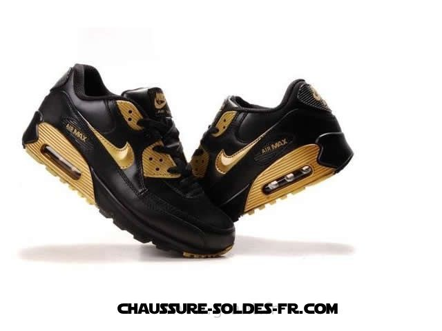 ... Nike Air Max 90 d'Or Noir Homme Nike Air Max 90 Id - Nike ...