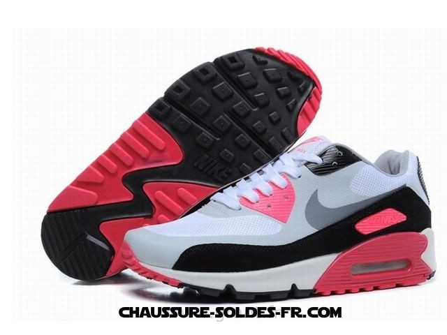 Nike Air Max 90 Hyperfuse 2014 Blanc Rose Femme - Nike Air Max 90 Hyperfuse 2014 Blanc Rose Femme