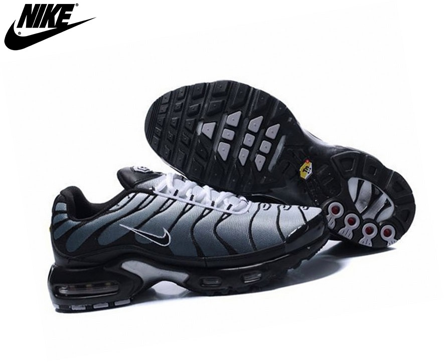 high quality popular stores brand new Nike Air Max Tn Requin Plus Homme Baskets Noir/Blanc Air Max