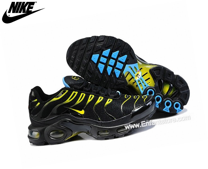 Nike Air Max Chaussures De Running Tn Requin/Tuned 1 Noir/Jaune - Nike Air Max Chaussures De Running Tn Requin/Tuned 1 Noir/Jaune
