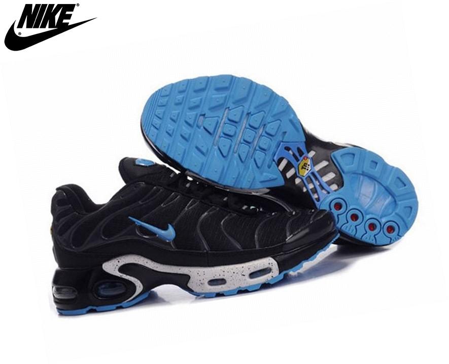 ... Nike Tn Requin/Nike Tuned 1 Chaussures De Running Pour Garçon Noir/Bleu ...