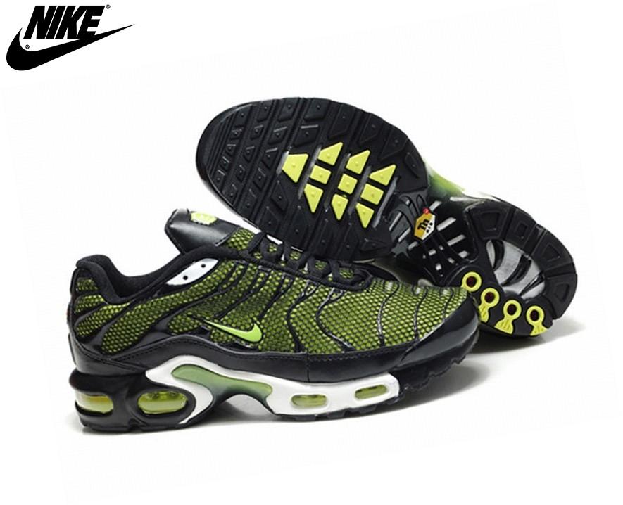 new arrivals 6a8e1 abd79 ... Nike Chaussures De Sport Pour Homme - Tn Requin/Nike Tuned Vert/Noir ...