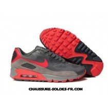 Nike Air Max 90 Hyperfuse Gris Rouge Homme Air Max 90 Homme