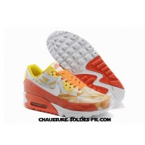 Nike Air Max 90 Hyperfuse Prm 2014 25 Anniversary Ice Orange Femme
