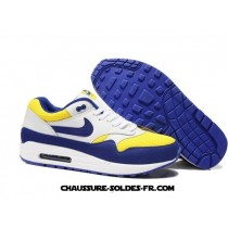 Nike Air Max 1 2013 Blanc Bleu Homme Nike Air Max 1 Essential