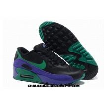 Nike Air Max 90 Hyperfuse Femme Noir Vert Pourpre