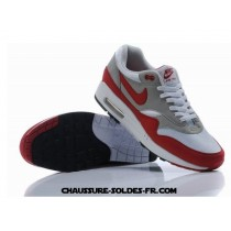 Nike Air Max 1 Blanc Gris Rouge Homme Nouvelle Air Max One