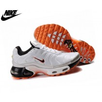 Nike Air Max Baskets Homme Tuned 1 Tn Requin Blanc/Orange