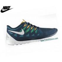 Nike Free 5.0 Chaussures De Sport Pour Homme Military Blue 642198-401