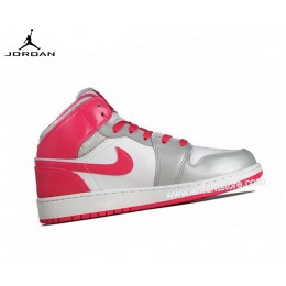 Nike Air Jordan 1 Mid Gs Baskets Pour Femme Dynamic Pink 555112-109