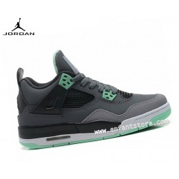 Nike Air Jordan 4/v Retro Gs Homme Sneakers Green Glow 408452-033