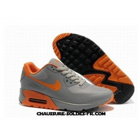 Nike Air Max 90 Hyperfuse Prm Gris Orange Homme Air Max 90 Black Men