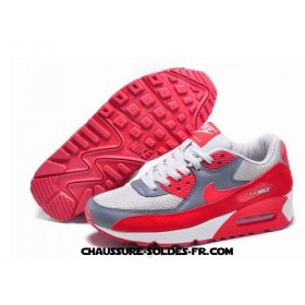 Nike Air Max 90 Hyperfuse Femme Rouge Blanc Gris