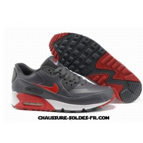 Nike Air Max 90 2013 Gris Rouge Homme Air Max 90 Premium Trainer