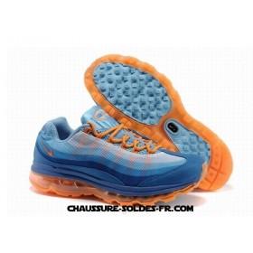 Nike Air Max 95 360 Wire Drawing Bleu Orange Femme Air Max 95 Neon
