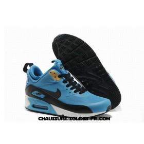 Nike Air Max 90 Mid No Sew Sneakerboots Ns Bleu Noir Homme