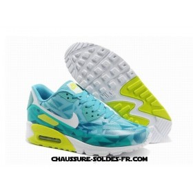 Nike Air Max 90 Hyperfuse Prm 2014 25 Anniversary Ice Vert Femme