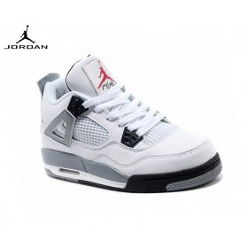 Nike Chaussures Basket_Ball Femme Air Jordan 4/v Retro Gs - Cemen