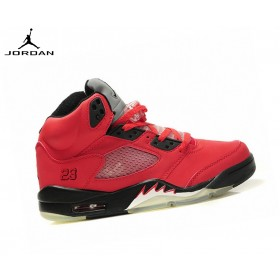 Air Jordan 5/v Retro - Homme Running Chaussures Raging Bull Red Suede 136027-010