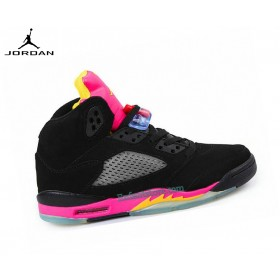 Run Chaussures Air Jordan 5/v Retro Gs Citrus/Floridan 440892-067