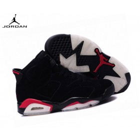 Air Jordan 6 Retro Baskets Garçon - Air Jordan Noir 136038-061