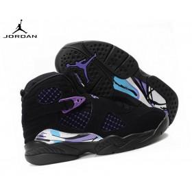 Air Jordan 8 Retro - Chaussures De Sport Fille Noir Violet