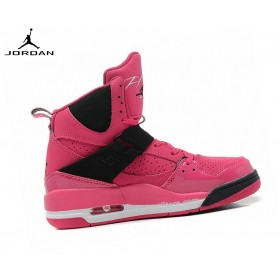 Nike Chaussures Basket_Ball Femme Air Jordan Flight 45 High Gs  - Rose 547769-601
