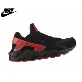 Nike Homme Chaussures Basket_Ball - Air Huarache Noir/University Rouge