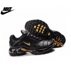 Nike Chaussures Basket_Ball Homme - Air Max Tn Requin Plus Noir/Or Chaussure Tne