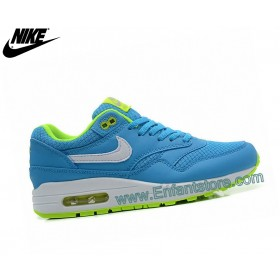 Nike Wmns Air Max 1 Baskets Pour Femme Essential Gs Bleu