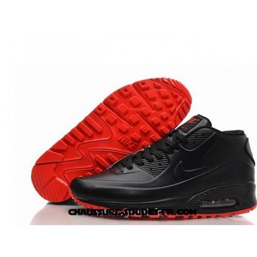 air max 90 homme noir et rouge