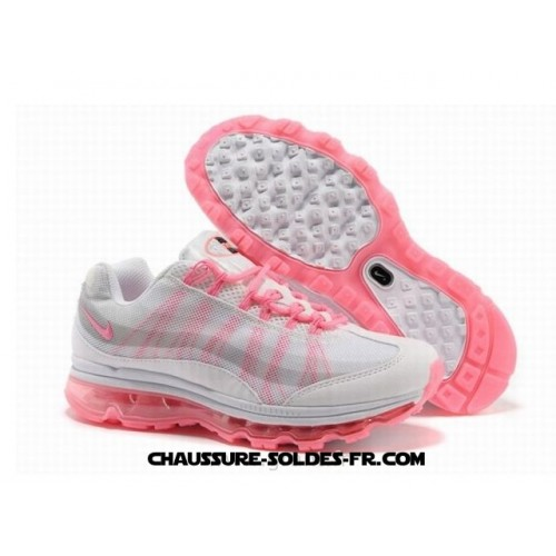 e8d54bfd0ad6 Nike Air Max 95 360 Wire Drawing Blanc Rose Femme Nike Air Max 95 ...