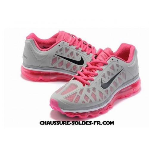 Nike Air Max 2011 Netty Breathable-Femme Crimson Gris Noir Nike Air Max 2007