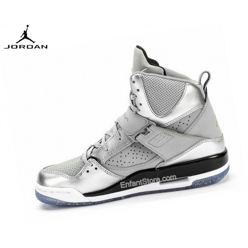 Nike Air Jordan Flight 45 High Gs Baskets Running Argent