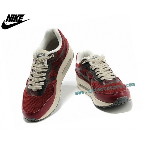Nike Air Max 1 Baskets Running Homme Prm Tape Rouge