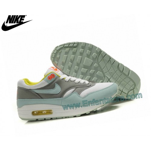 Nike Femme Sneakers Wmns Air Max 1 Essential Gs Gris