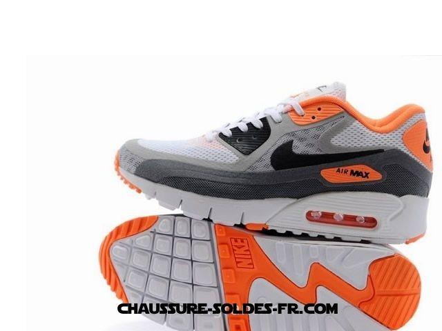 Nike Air Max 90 Homme Gris Orang Blanc Nike Store Air Max 90 - Nike Air Max 90 Homme Gris Orang Blanc Nike Store Air Max 90-3