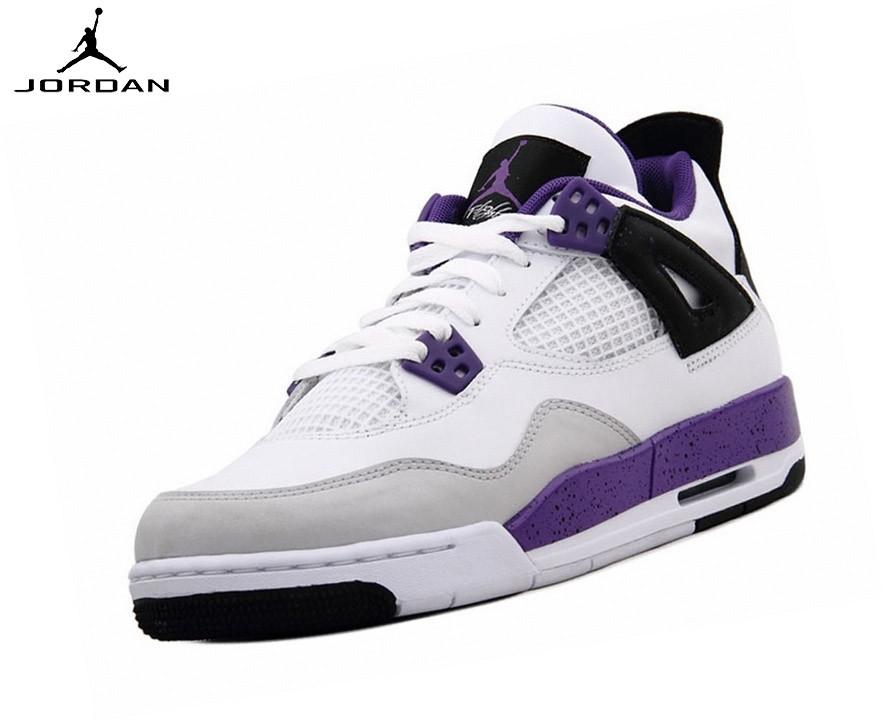 Nike Air Jordan 4/v Retro Gs - Baskets Running Ultraviole - Nike Air Jordan 4/v Retro Gs Baskets Running Ultraviole-1