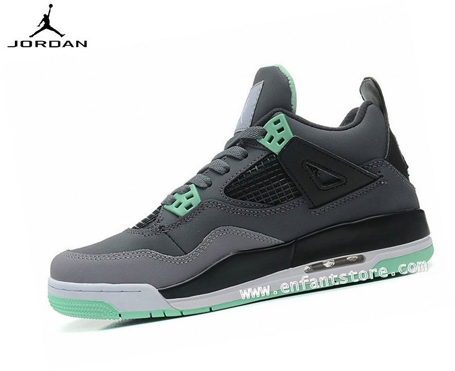 Nike Air Jordan 4/v Retro Gs Homme Sneakers Green Glow 408452-033 - Nike Air Jordan 4/v Retro Gs Homme Sneakers Green Glow 408452-033-1